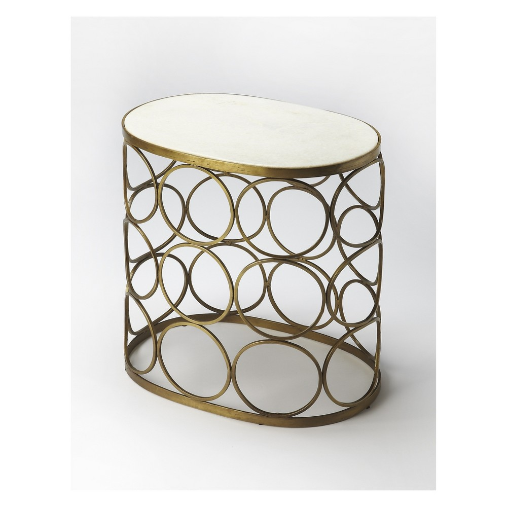 Butler Specialty Talulah Oval Marble Accent Table Metalworks