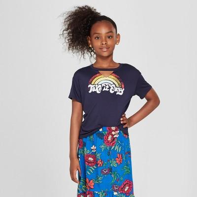Girls' Gigi Short Sleeve Graphic T-Shirt - art class™ Blue L