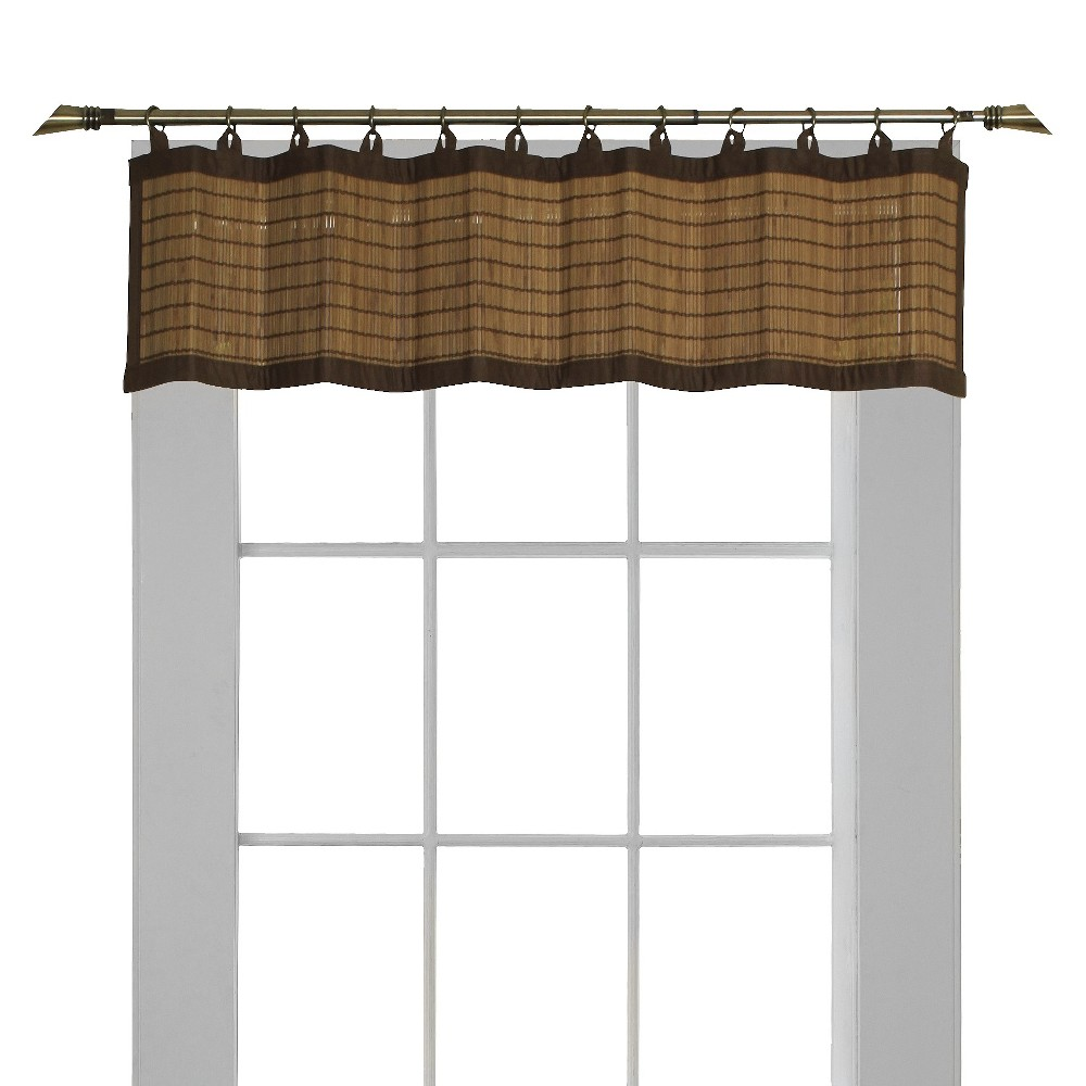 "Image of ""12""""x48""""Window Valance Bamboo Ring Top Light Brown - Versailles Home Fashions"""