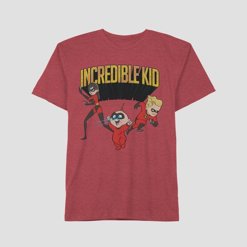 d3f4ea1c Men's The Incredibles Father's Day Incredible Kid Short Sleeve Graphic T- Shirt - Barn Red