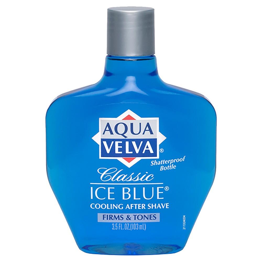 Aqua Velva Classic Ice Blue Cooling Men's After Shave 3.5oz