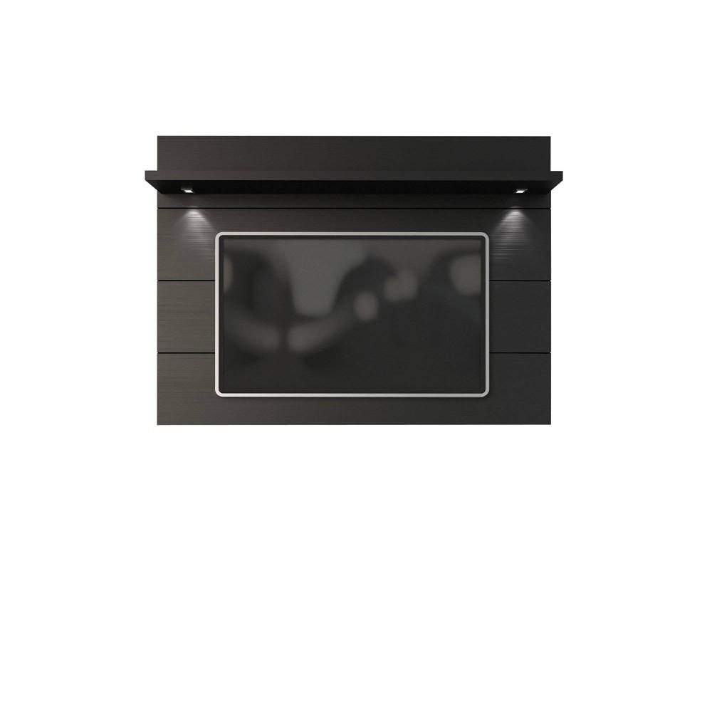 Cabrini Floating Wall TV Panel 2.2 Black Matte - Manhattan Comfort