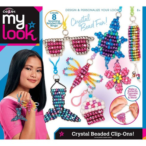 Cra-Z Art My Look Crystal Beaded Clip-Ons - image 1 of 4