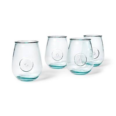22oz 4pc Recycled Glass Stemless Wine Glass Set - Levi's® x Target