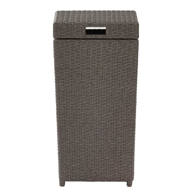 Exceptionnel Palm Harbor Outdoor Wicker Trash Bin   Gray : Target