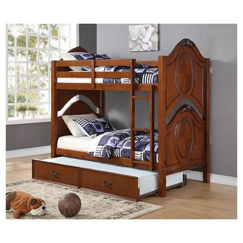 Classique Kids Bunk Bed Cherry Twin Twin Acme Target