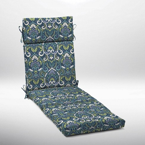 Aurora Damask Cartridge Chaise Cushion Sapphire - Arden Selections - image 1 of 2