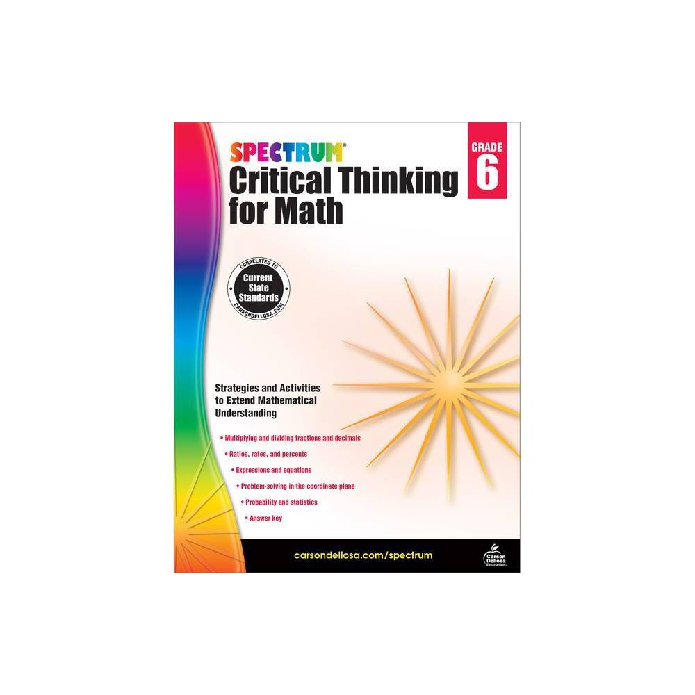 Spectrum Critical Thinking For Math Grade 6 Paperback