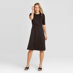 Women's Short Sleeve Round Neck Seamed Dress - Who What Wear™