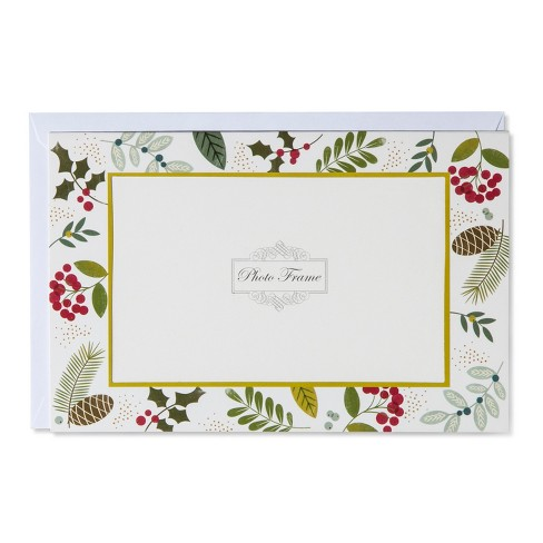 American Greetings 10ct Botanical Photo Holder Holiday Boxed Cards - image 1 of 1