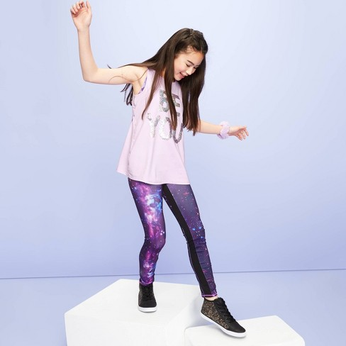 Girls' 'Be You' Sequin Tank Top - More Than Magic™ Violet - image 1 of 4