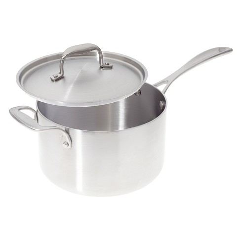 American Kitchen Cookware Premium Stainless Steel Covered 4 Quart Saucepan - image 1 of 2
