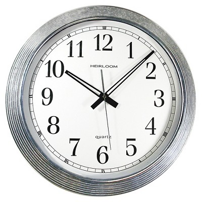 16  Wall Clock Zinc Finish - TimeKeeper®