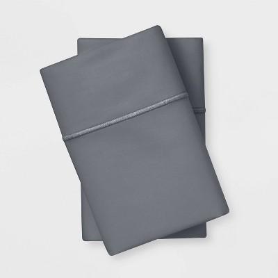 Standard 1000 Thread Count Solid Pillowcase Set Radiant Gray - Threshold Signature™