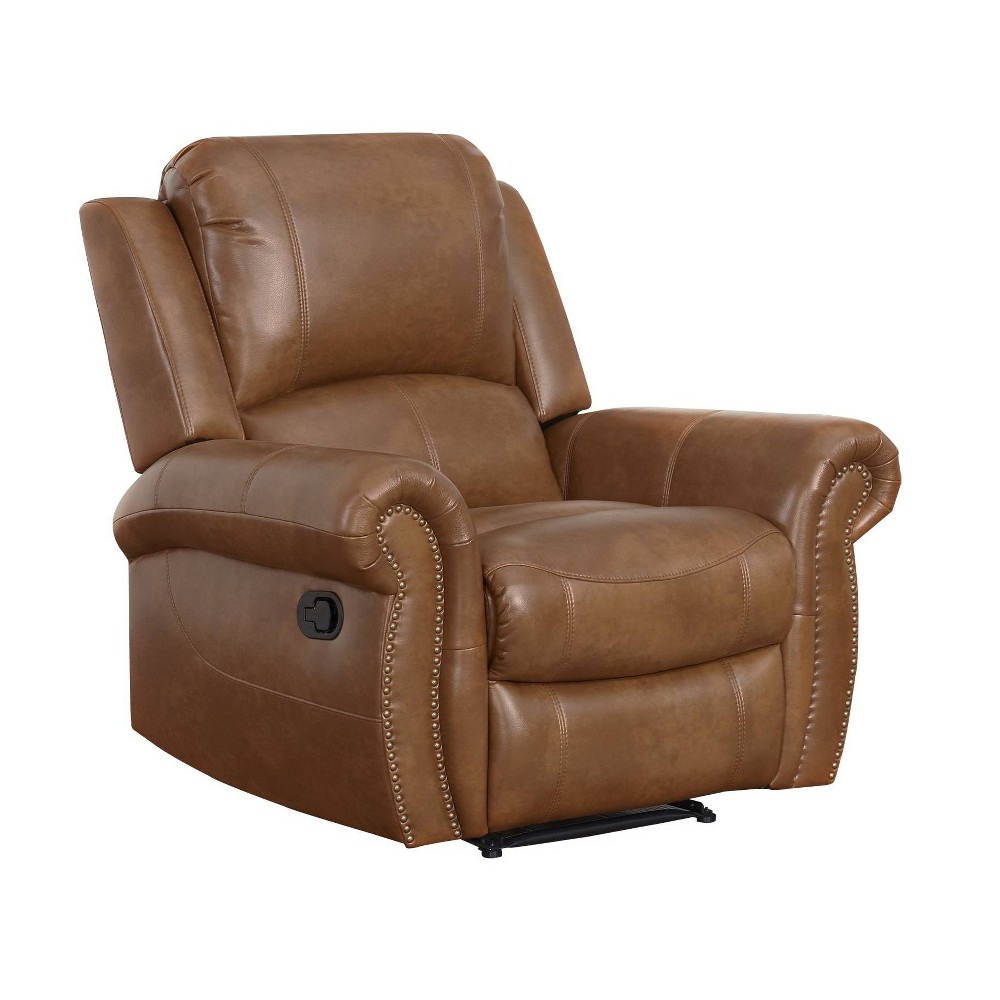 Awesome Lorenzo Leather Reclining Armchair Cognac Red Abbyson Living Short Links Chair Design For Home Short Linksinfo