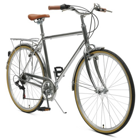 Critical Cycles Mens Beaumont 7-speed City Bike -54cm -Chrome - image 1 of 2