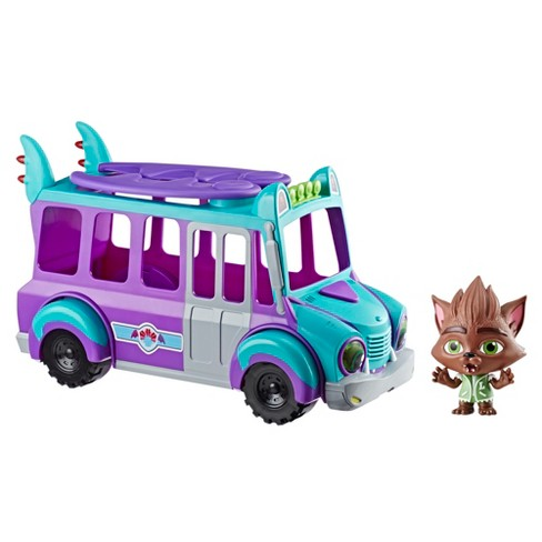 Netflix Super Monsters GrrBus Monster Bus Toy with Lights, Sounds, and Music - image 1 of 16