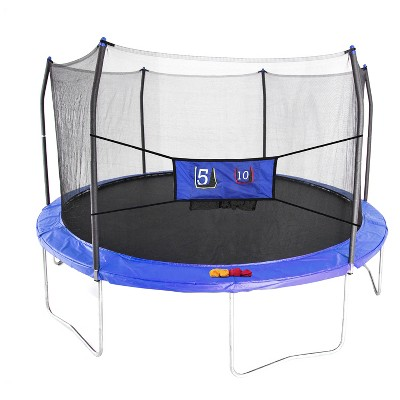 Skywalker Trampolines 15' Round Jump-N-Toss Trampoline with Enclosure - Blue