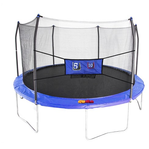 Skywalker Trampolines 15' Round Jump-N-Toss Trampoline with Enclosure - Blue - image 1 of 6