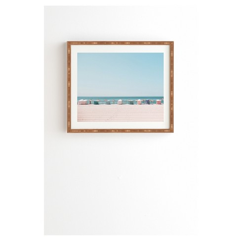 """Hello Twiggs Beach Huts Framed Wall Art 14"""" x 16.5"""" - Deny Designs - image 1 of 1"""