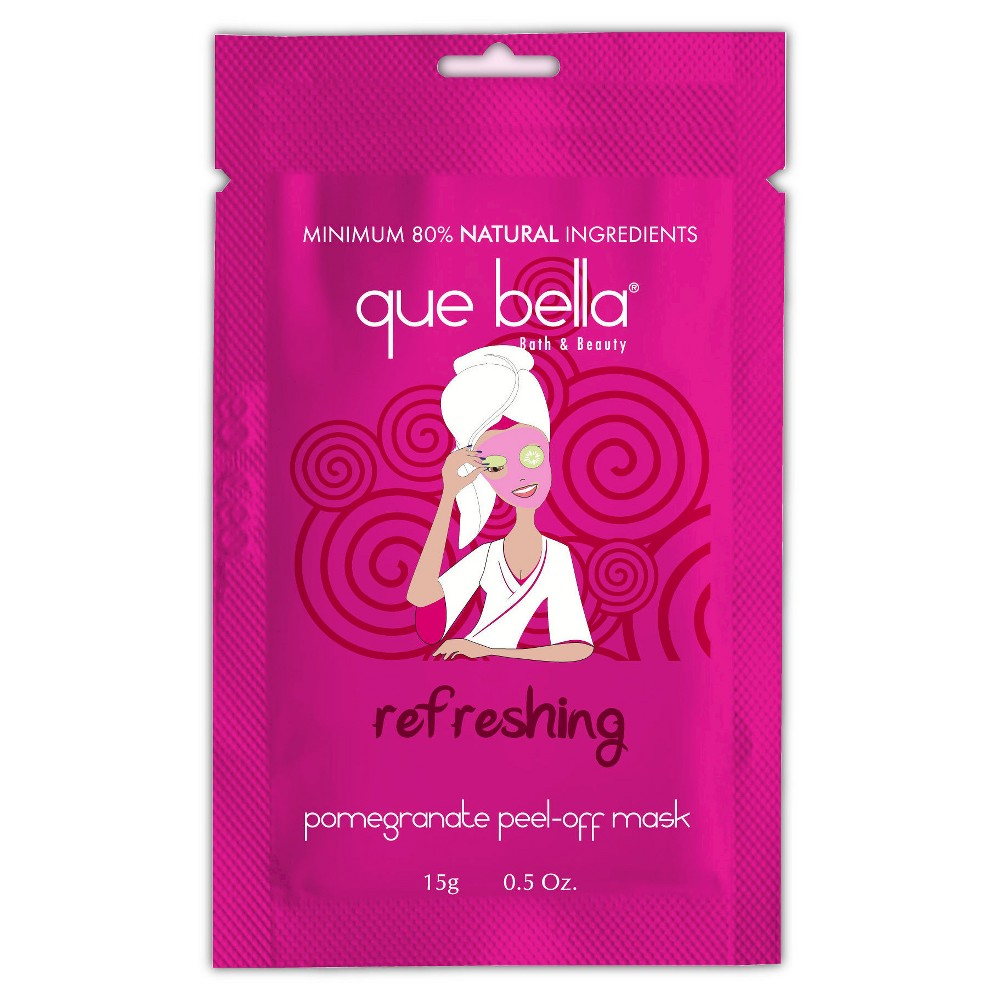 Que Bella Refreshing Pomegranate Peel Off Mask - 0.5 oz, Pink