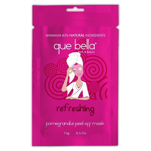 Que Bella® Refreshing Pomegranate Peel Off Mask - 0.5 oz - image 1 of 3