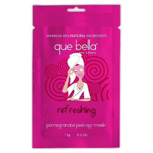 Que Bella Refreshing Pomegranate Peel Off Face Mask - 0.5oz