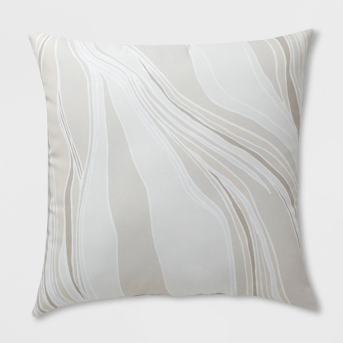 Oversize Square Strata Outdoor Pillow Neutral - Project 62™ - image 1 of 1