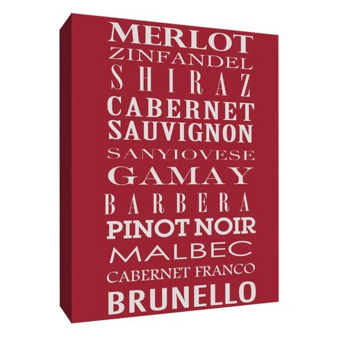 "Wine Menu I Decorative Canvas Wall Art 11""x14"" - PTM Images - image 1 of 1"