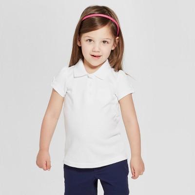 Toddler Girls' Short Sleeve Interlock Uniform Polo Shirt   Cat &Amp; Jack by Cat & Jack