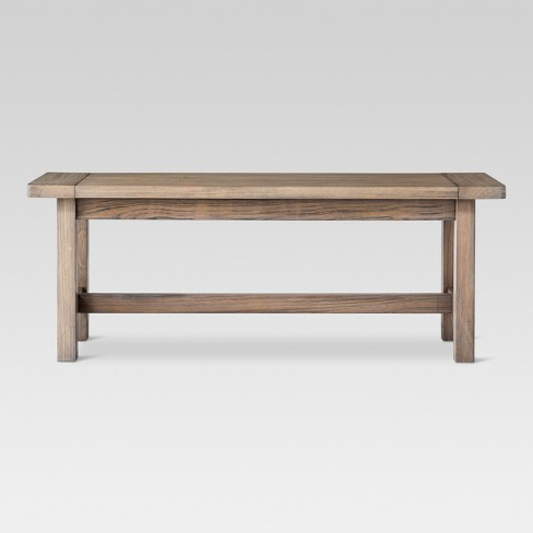 "Gilford 49"" Dining Bench Brown - Threshold™ - image 1 of 4"