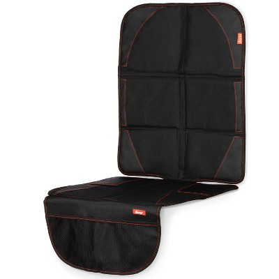 Diono Ultra Mat Full Size Car Seat Protector for Under Car Seat with 3 Mesh Storage Pockets Crashed Tested - Black