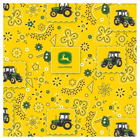 John Deere Bandana Tractor Patch Fabric