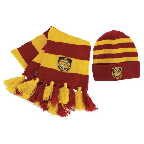 6344bcd2efe Halloween Harry Potter Hogwarts Hat And Scarf Yellow   Target