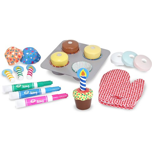 Melissa & Doug® Bake and Decorate Wooden Cupcake Play Food Set - image 1 of 3