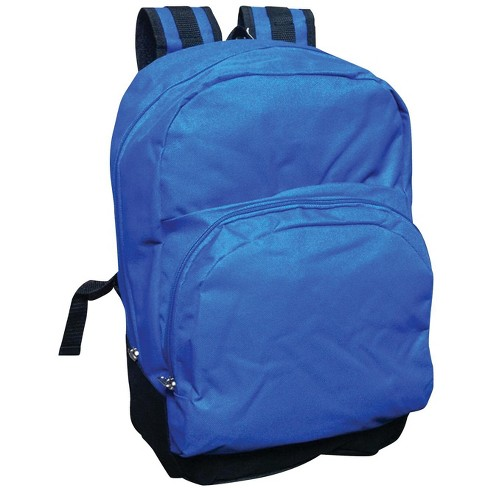 School Smart 1-Pocket Backpack with Front Pocket Organizer and Hidden Pouch, 17.3 X 12.4 X 6 in, Polyester, Blue - image 1 of 1