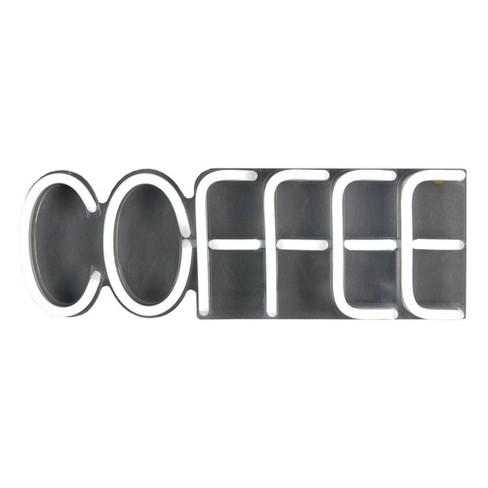 LED Neon Coffee Wall Sign Novelty Wall Lights Turquoise - Room Essentials™ - image 1 of 2