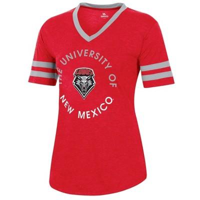 NCAA New Mexico Lobos Women's Short Sleeve V-Neck Heathered T-Shirt