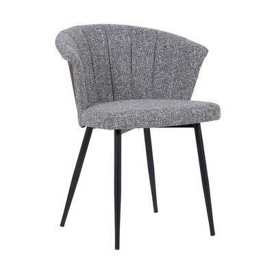 Orchid Mid Century Dining Chair Black/Gray - Armen Living