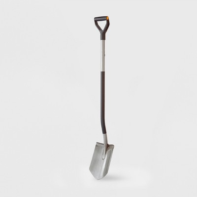 Fiskars 49  Ergo D-Handle Steel Shovel Black