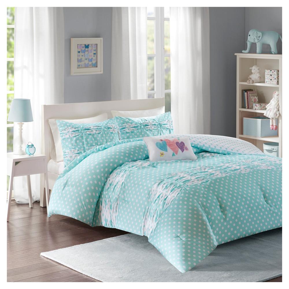 Aqua (Blue) Ella Comforter Set (Twin/Twin XL)