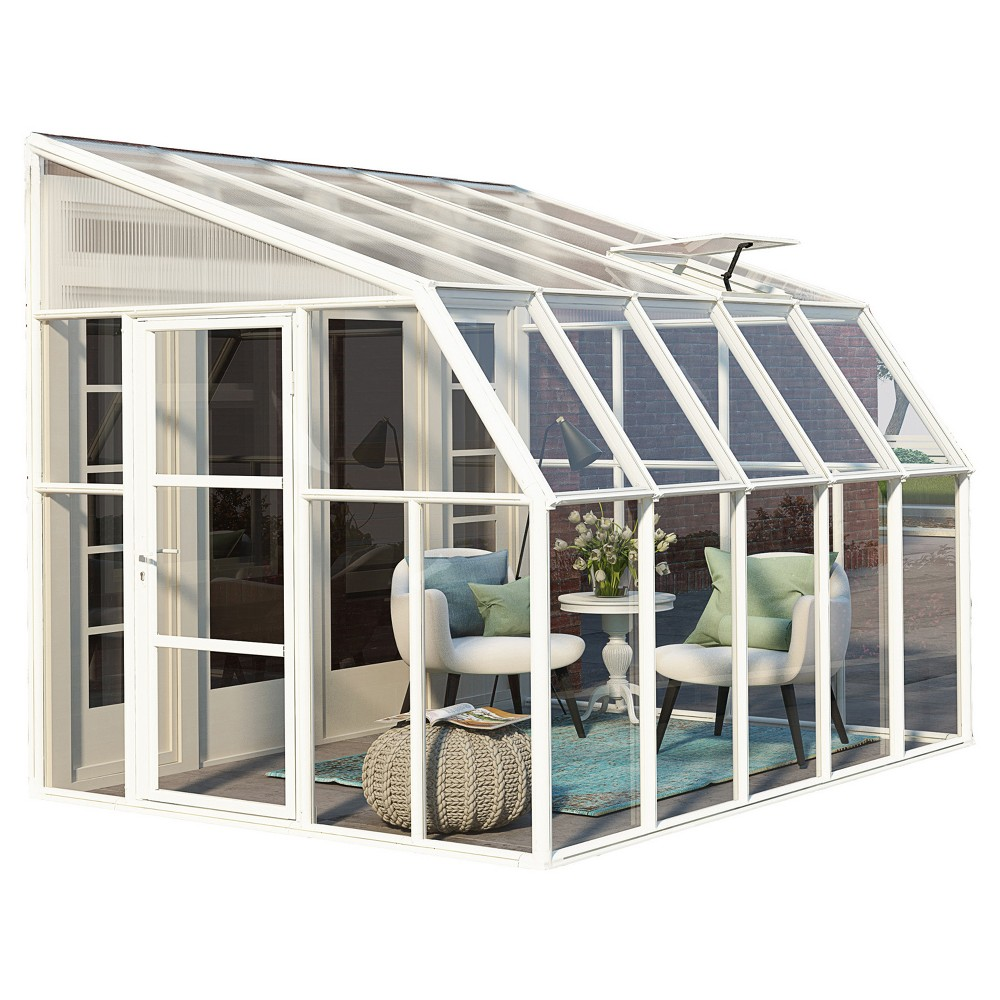 Image of 8'X10' Sun Room 2 Greenhouse - White - Palram