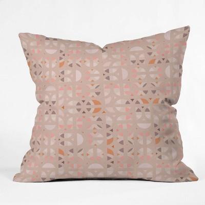 """16""""x16"""" Mirimo Arabesque En Rose Throw Pillow Pink - Deny Designs"""