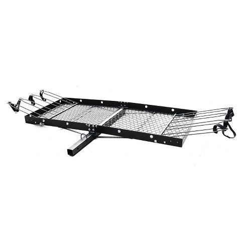 Tow Tuff 62 Inch Steel Cargo Carrier Trailer for Car or Truck with Bike Rack - image 1 of 4