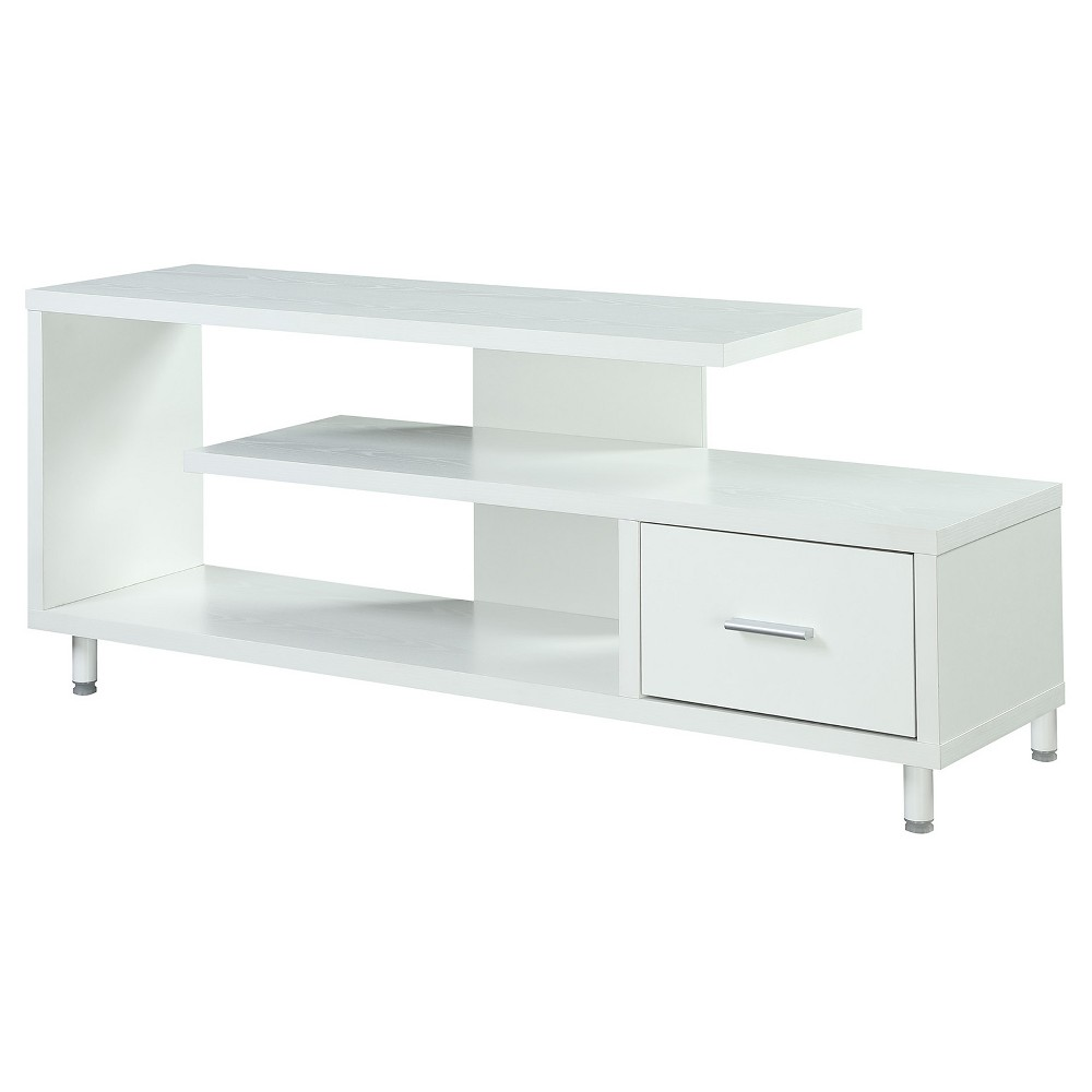 Seal Ii 60 TV Stand - White - Convenience Concepts