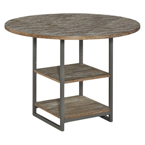 Barnside Metro Round Dining Table - Gray - Home Styles - image 1 of 1