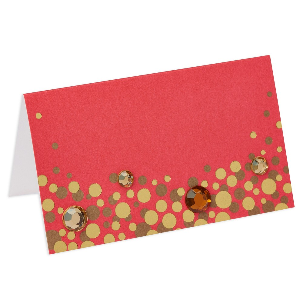 Papyrus Simple Dot Pattern Place Card, Multi-Colored