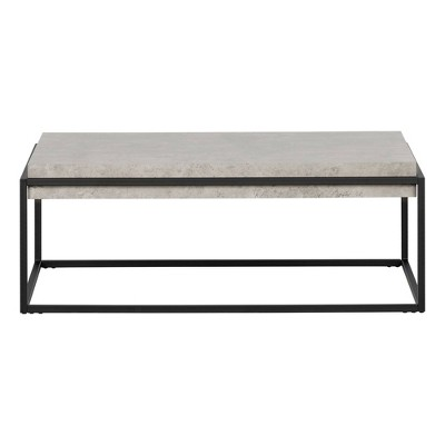 Mezzy Modern Industrial Coffee Table Gray/Black - South Shore