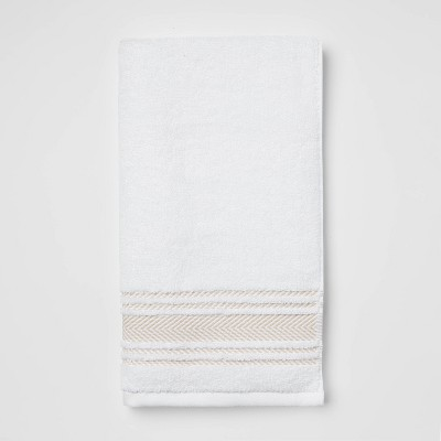 Performance Hand Towel Tan Stripe - Threshold™