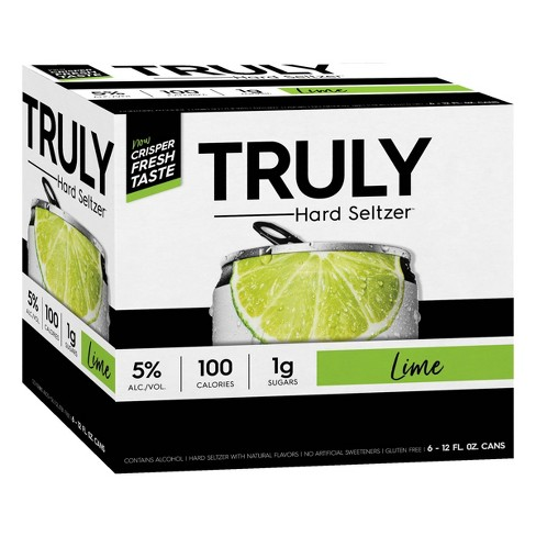 Truly Hard Seltzer Lime - 6pk/12 fl oz Cans - image 1 of 3